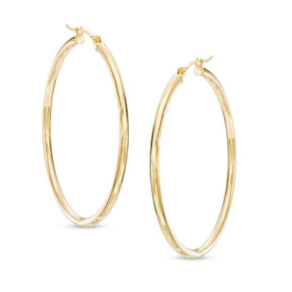 e8f7f20ed Zales 2.0 40mm 14K Yellow Gold Silver Hoop Earring. Zales.  M_5c14381cde6f62e856b82250. M_5c14381d4ab633b2941c803e.  M_5c14381faa877018a0737d86
